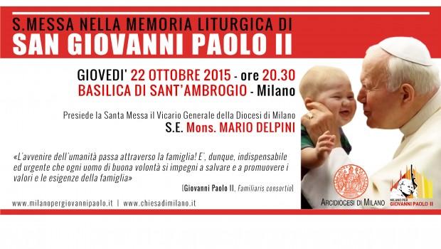 22.10.2015: veglia per la famiglia e Messa nel giorno di San Giovanni Paolo II