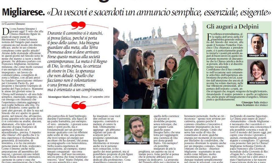 Sinodo giovani – l'intervista a Francesco Migliarese, presidente dell'associazione Milano per Giovanni Paolo II