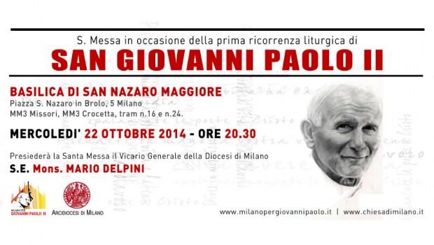 22.10.2014 – Messa per San Giovanni Paolo II