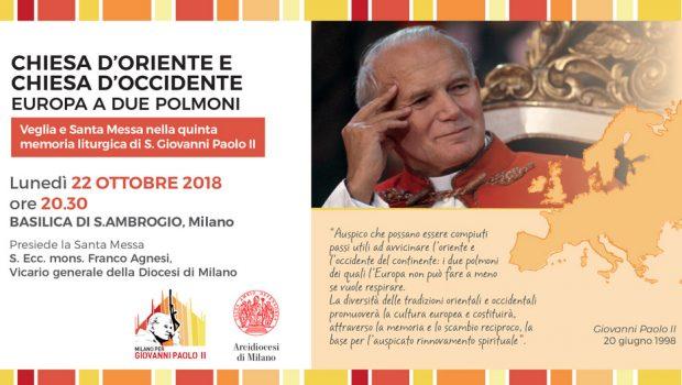 22.10.2018 – Veglia e messa nel giorno di S. Giovanni Paolo II